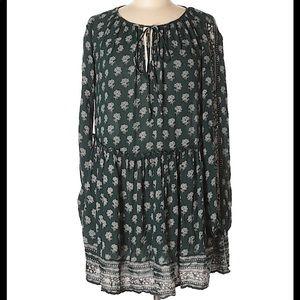 Zara | Trafaluc green floral boho dress